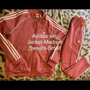 Adidas pink set